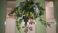 リース頂いてクリスマスらしくなりました。